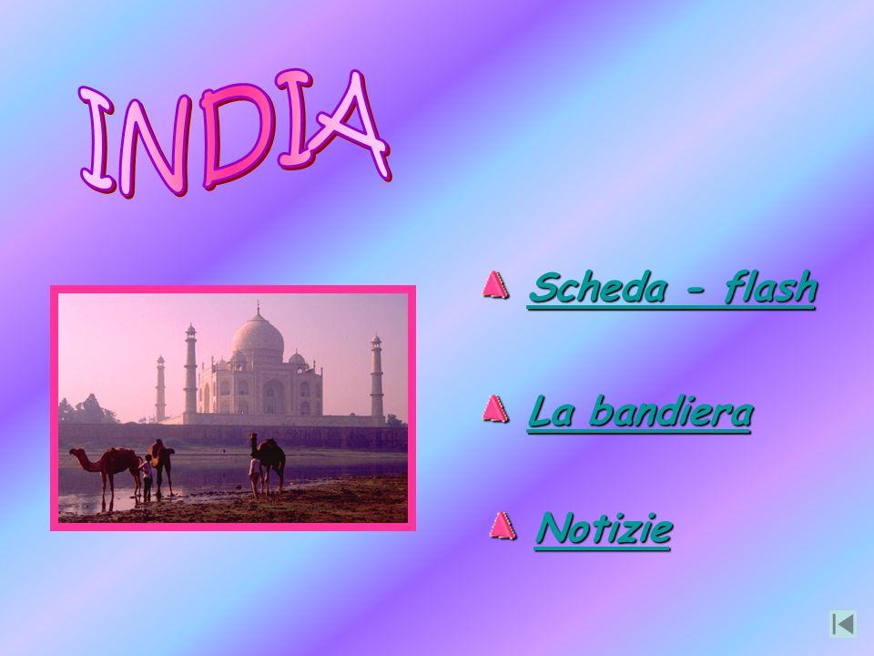 INDIA Scheda - flash La bandiera Notizie