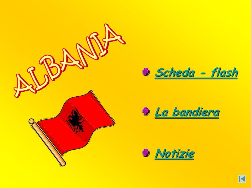 ALBANIA Scheda - flash La bandiera Notizie