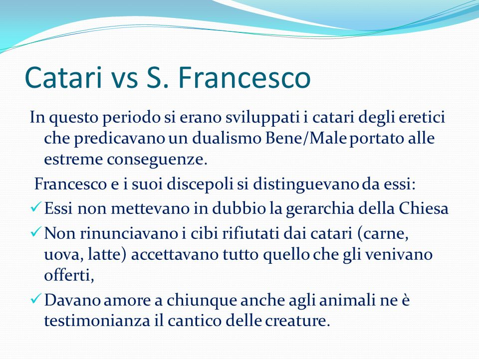 Catari vs S. Francesco