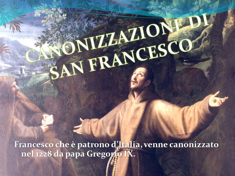 CANONIZZAZIONE DI SAN FRANCESCO