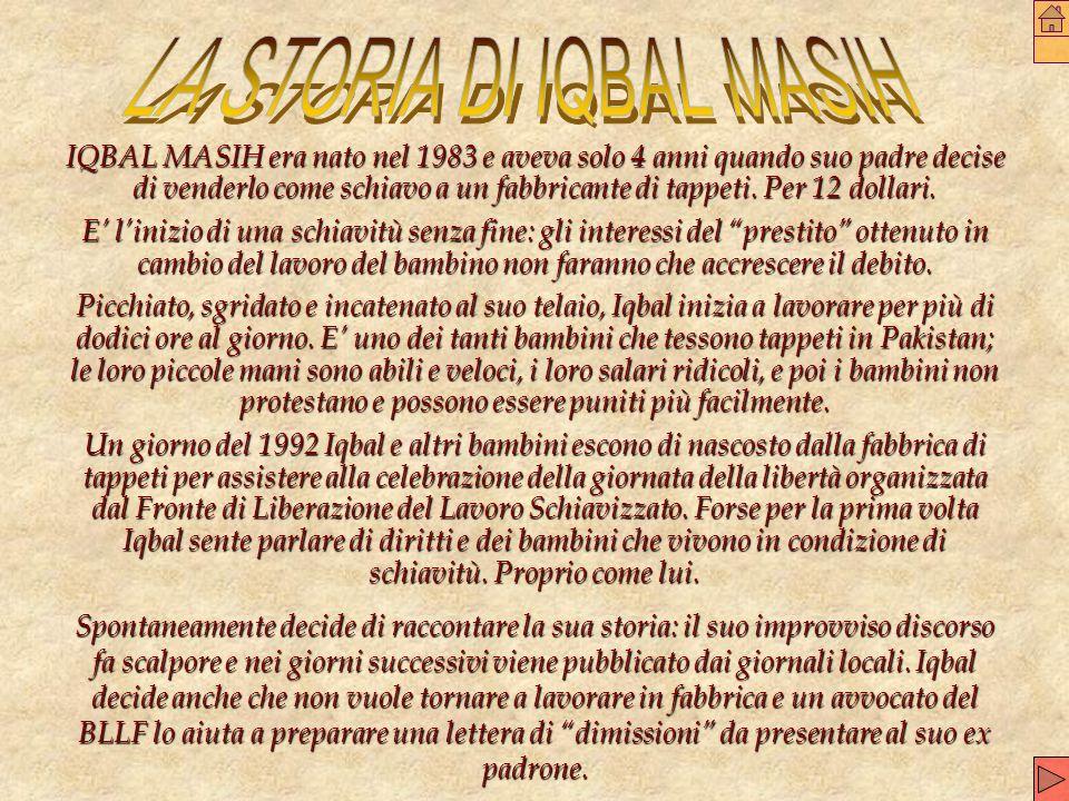 LA STORIA DI IQBAL MASIH