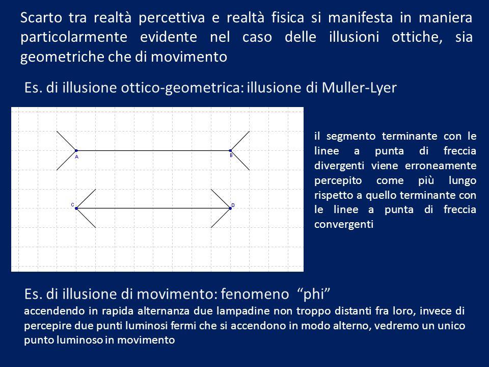 Es. di illusione ottico-geometrica: illusione di Muller-Lyer