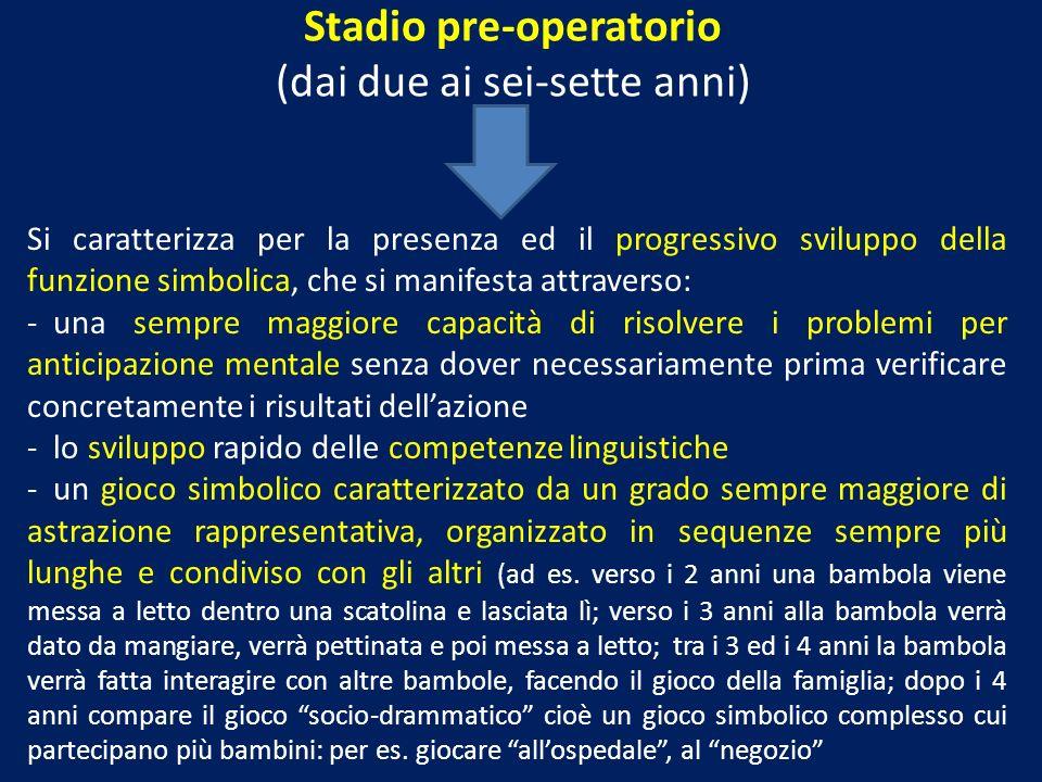 Stadio pre-operatorio