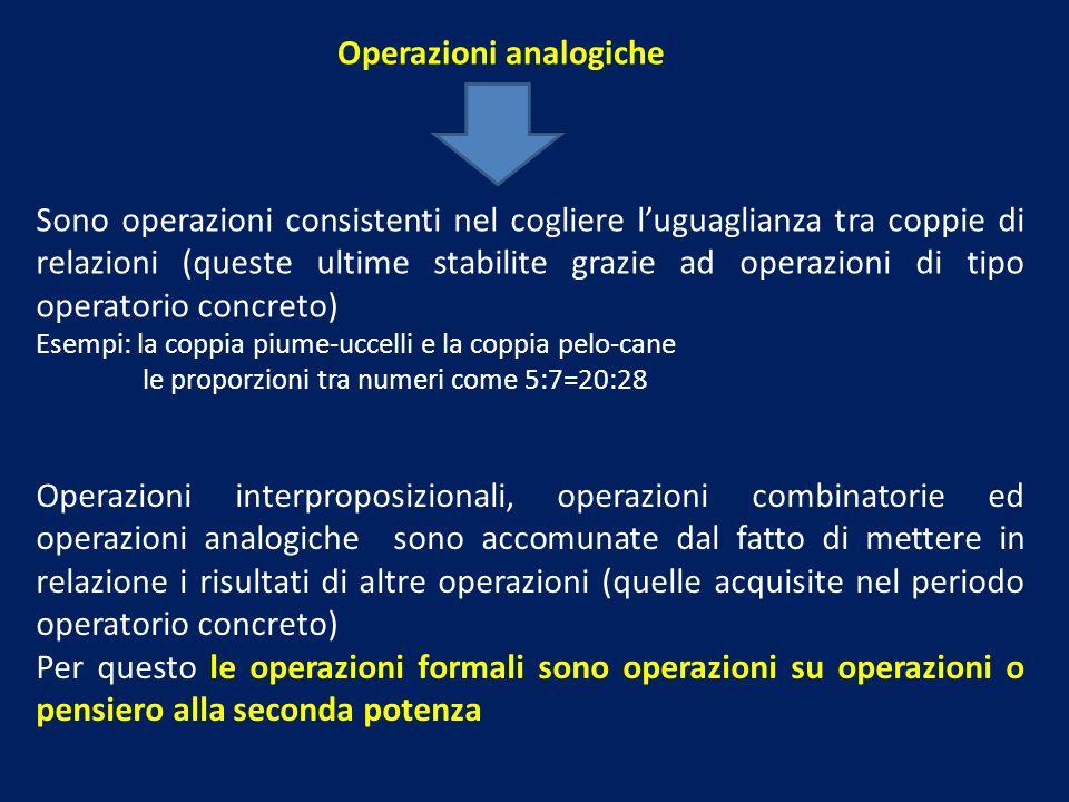 Operazioni analogiche