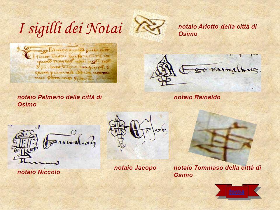 I sigilli dei Notai notaio Arlotto della città di Osimo