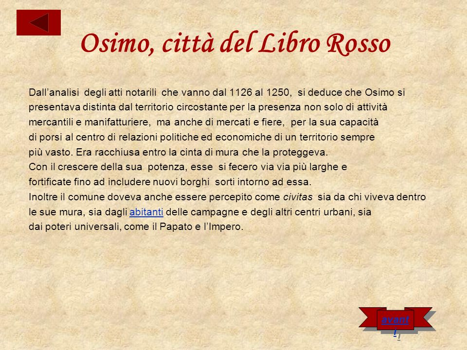 Osimo, città del Libro Rosso