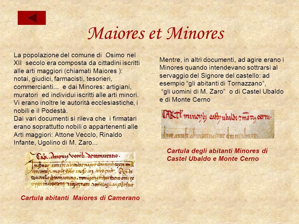 Maiores et Minores La popolazione del comune di Osimo nel