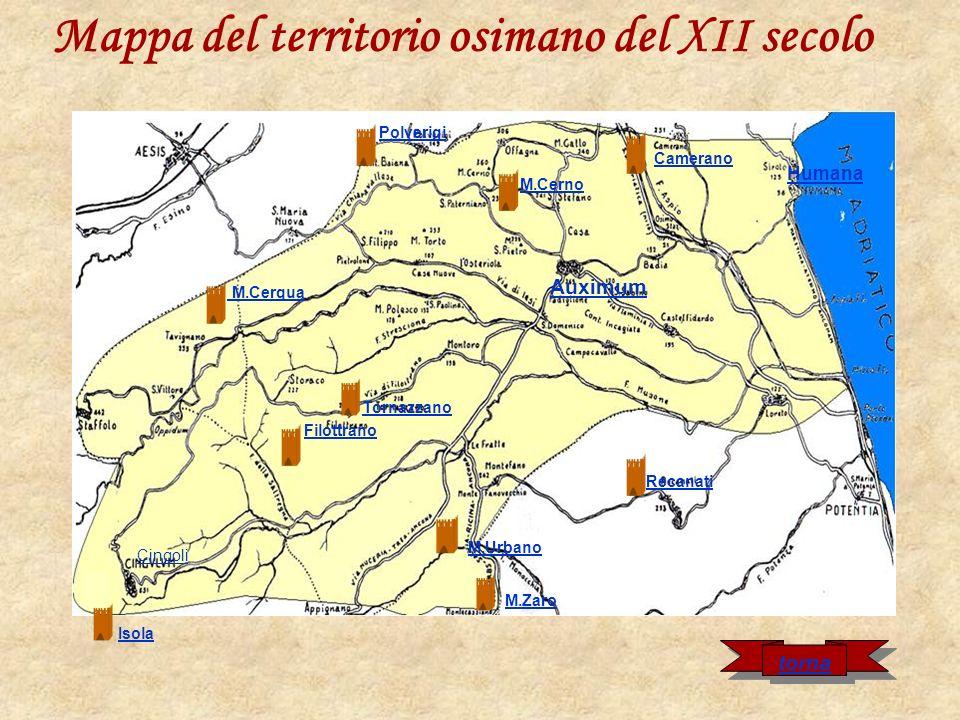 Mappa del territorio osimano del XII secolo