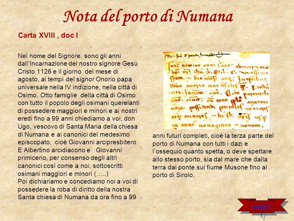 Nota del porto di Numana