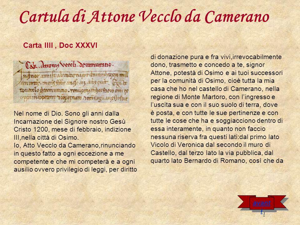 Cartula di Attone Vecclo da Camerano