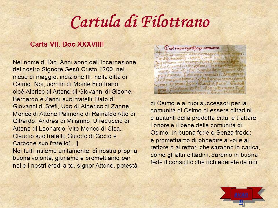 Cartula di Filottrano Carta VII, Doc XXXVIIII