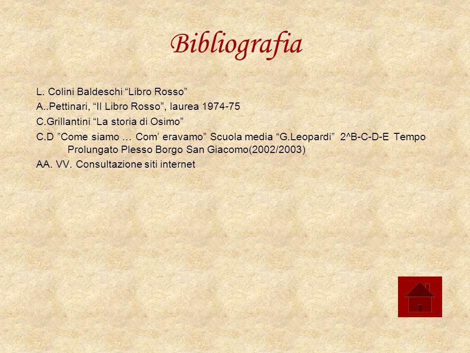 Bibliografia L. Colini Baldeschi Libro Rosso