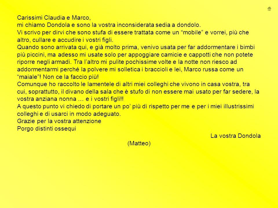 Carissimi Claudia e Marco,