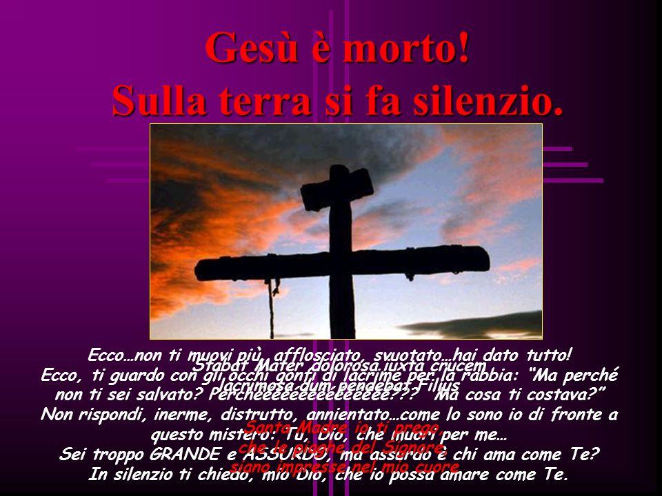 Gesù è morto! Sulla terra si fa silenzio.