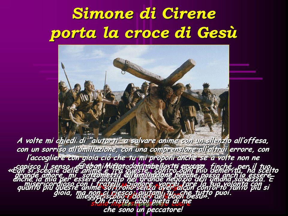 Simone di Cirene porta la croce di Gesù