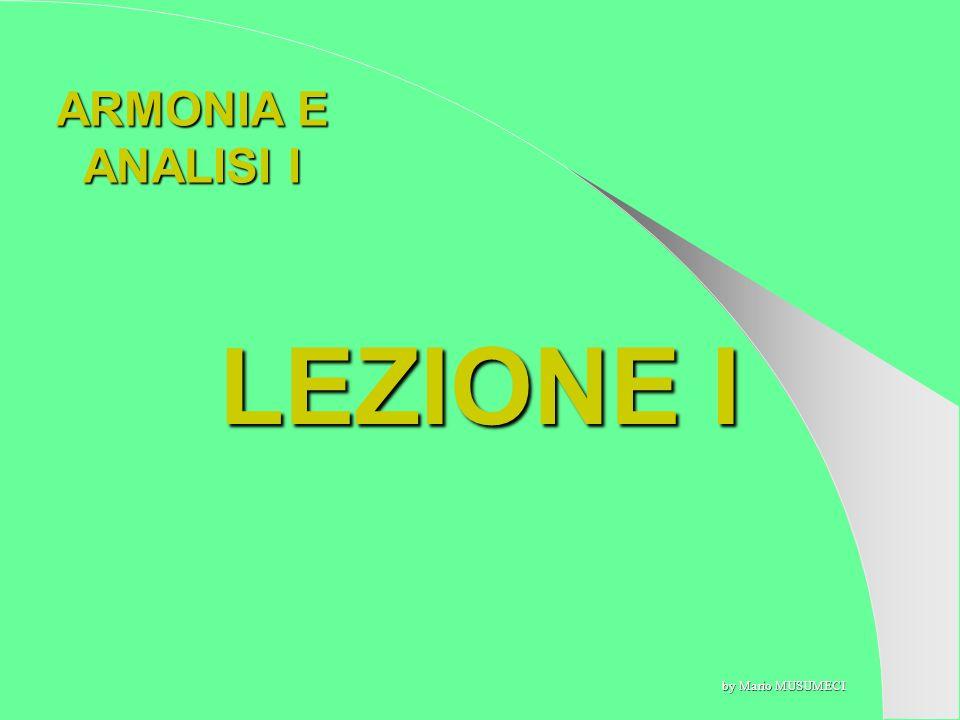 ARMONIA E ANALISI I LEZIONE I by Mario MUSUMECI