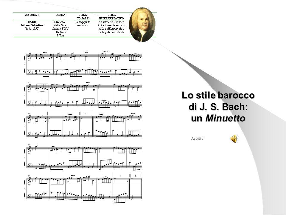 Lo stile barocco di J. S. Bach: un Minuetto