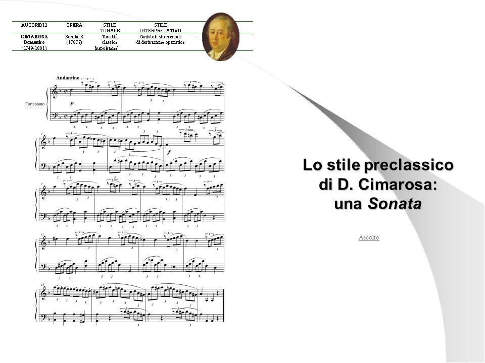 Lo stile preclassico di D. Cimarosa: una Sonata