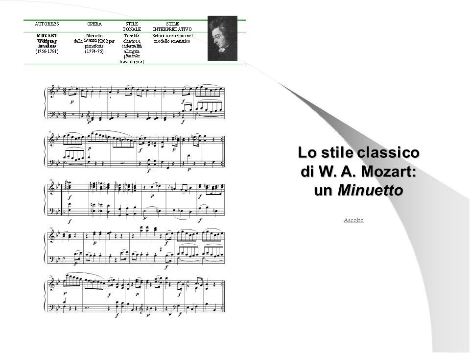 Lo stile classico di W. A. Mozart: un Minuetto