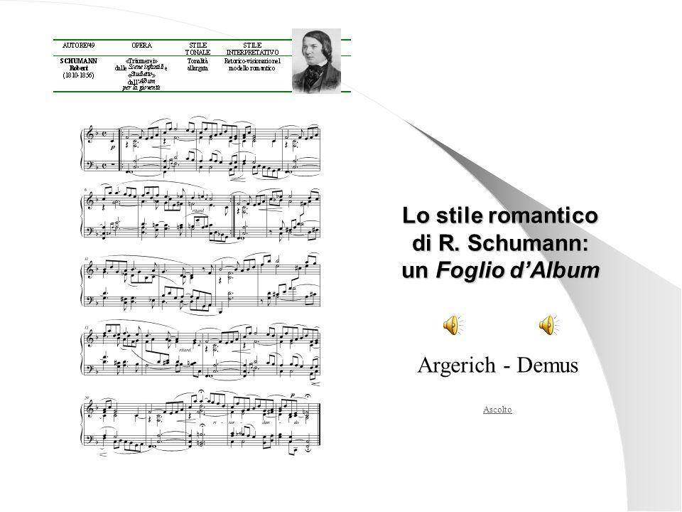 di R. Schumann: un Foglio d'Album