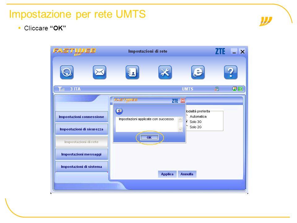 Impostazione per rete UMTS