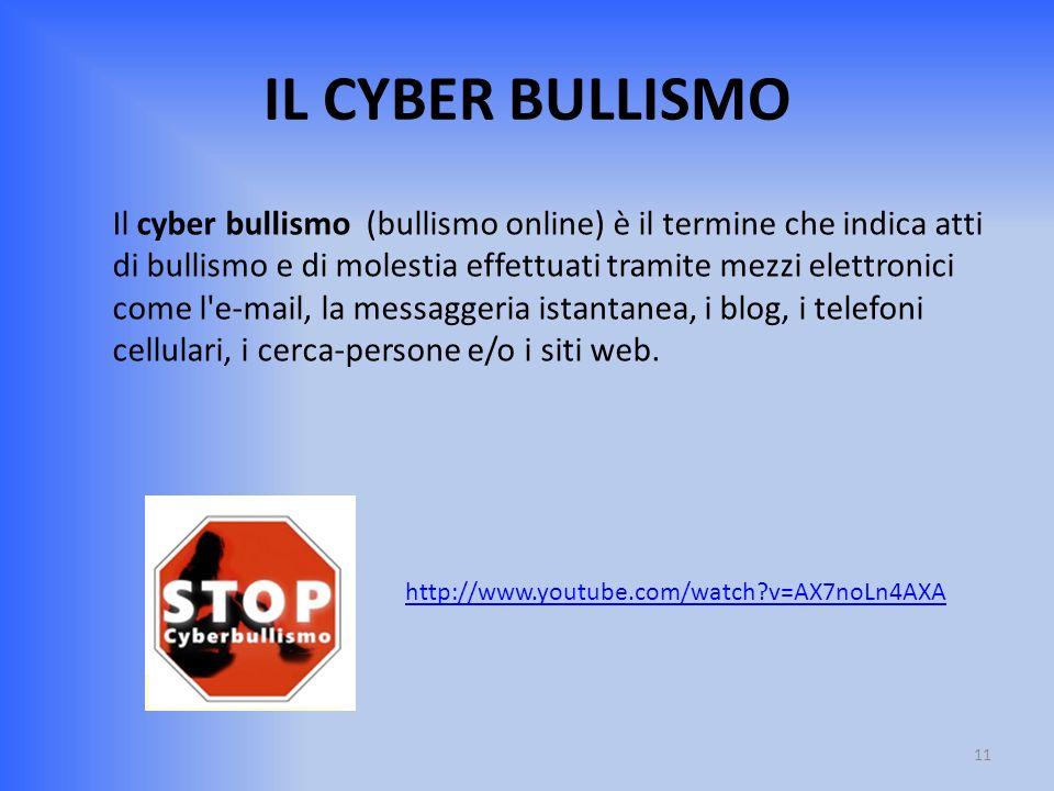 IL CYBER BULLISMO