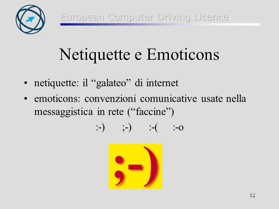 Netiquette e Emoticons