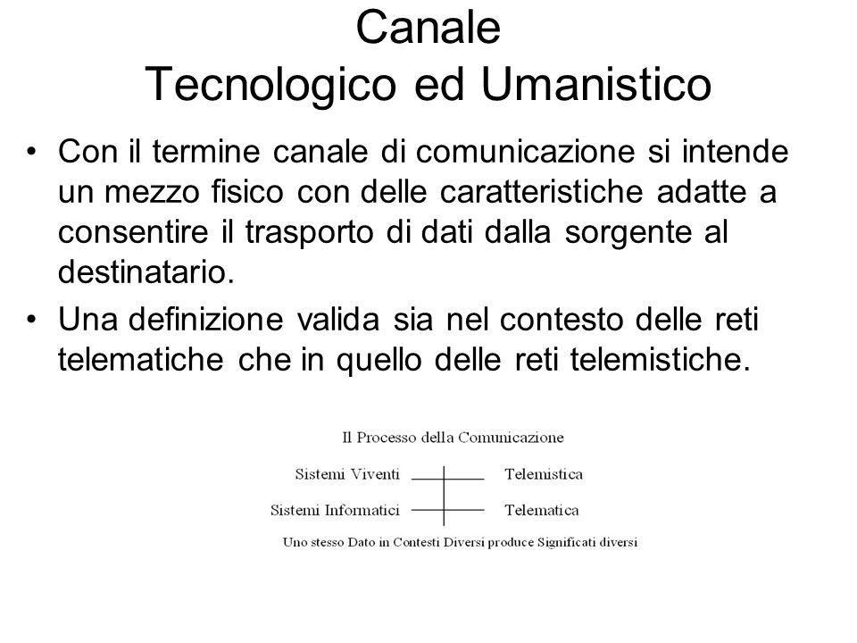 Canale Tecnologico ed Umanistico