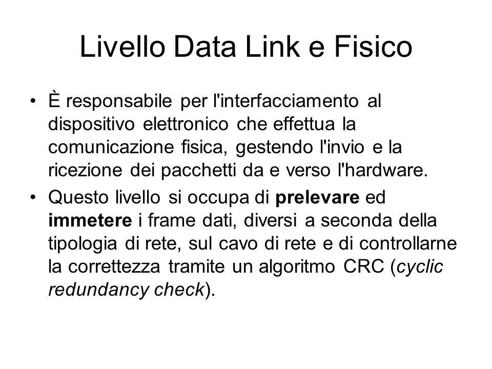 Livello Data Link e Fisico