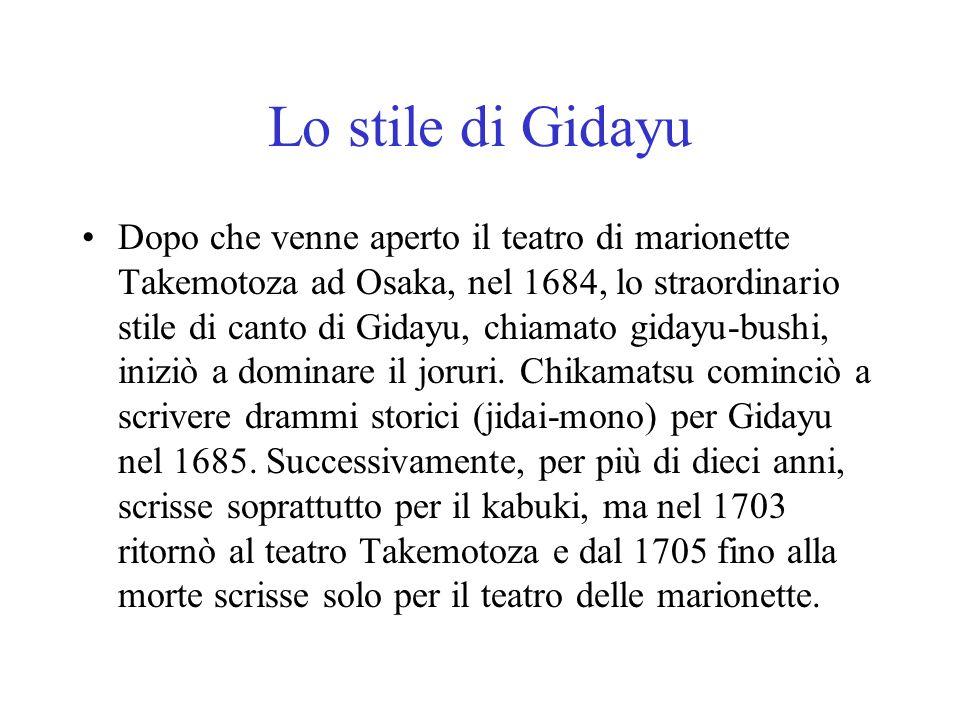 Lo stile di Gidayu