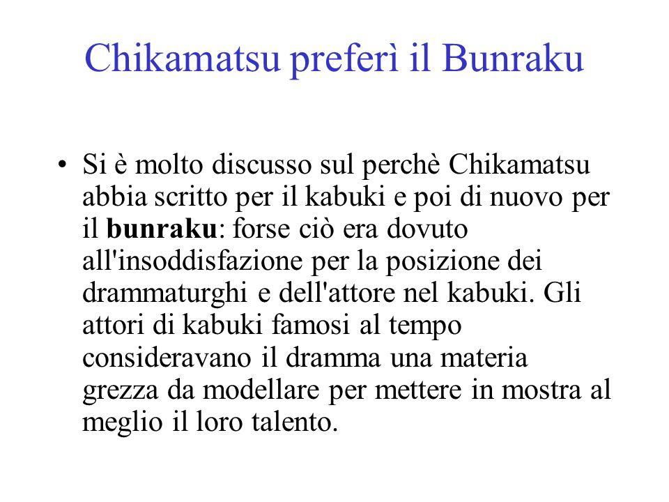 Chikamatsu preferì il Bunraku