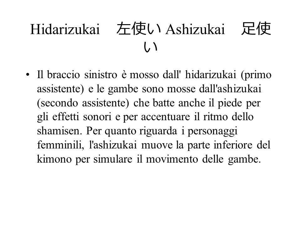 Hidarizukai 左使い Ashizukai 足使い
