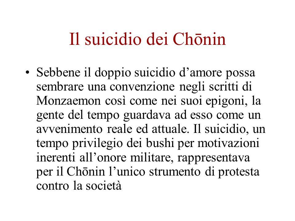 Il suicidio dei Chōnin