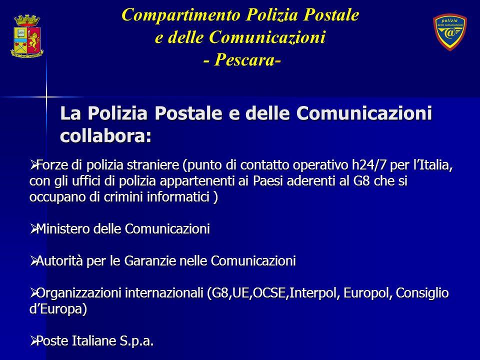 La Polizia Postale e delle Comunicazioni collabora: