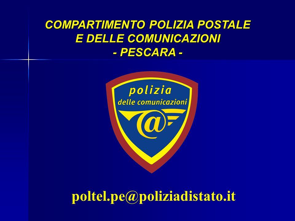 COMPARTIMENTO POLIZIA POSTALE E DELLE COMUNICAZIONI - PESCARA -