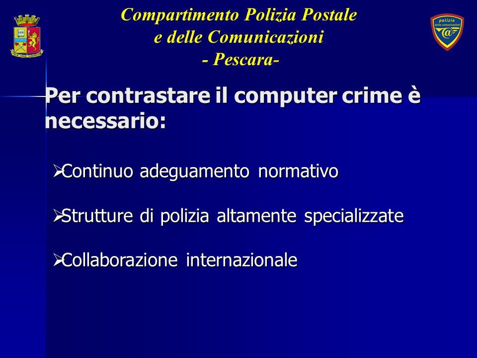 Per contrastare il computer crime è necessario:
