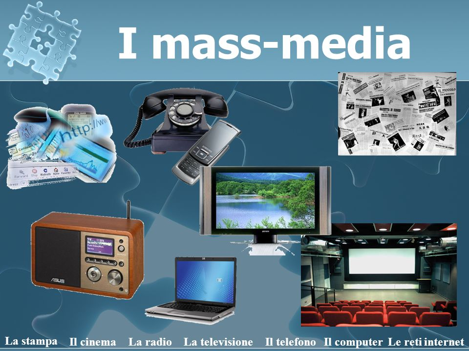 I mass-media La stampa Il cinema La radio La televisione Il telefono