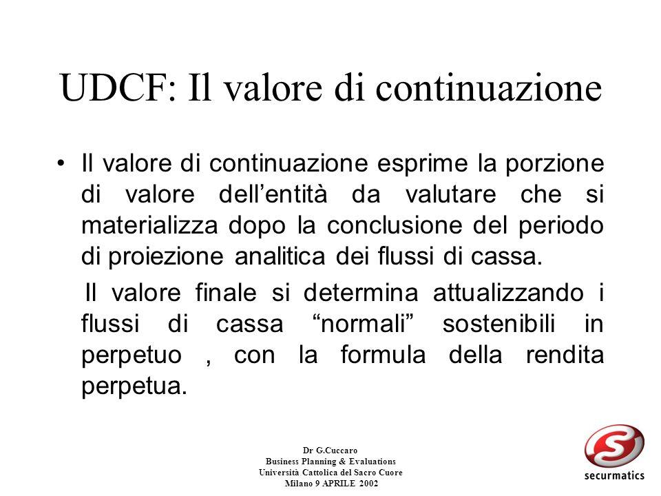 UDCF: Il valore di continuazione