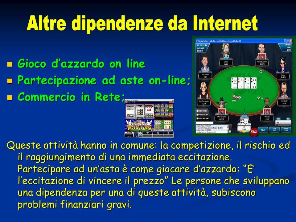 Altre dipendenze da Internet