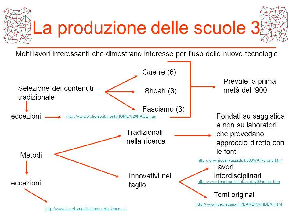 La produzione delle scuole 3