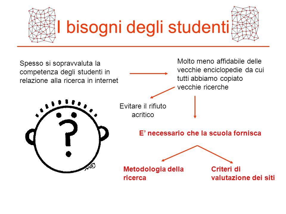 I bisogni degli studenti