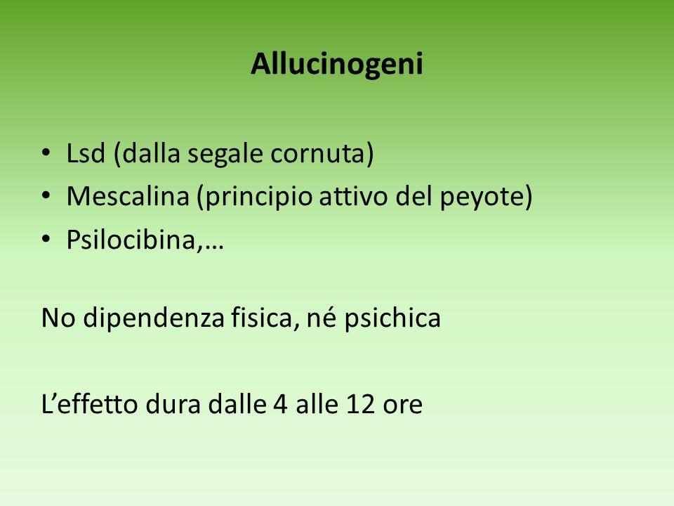Allucinogeni Lsd (dalla segale cornuta)