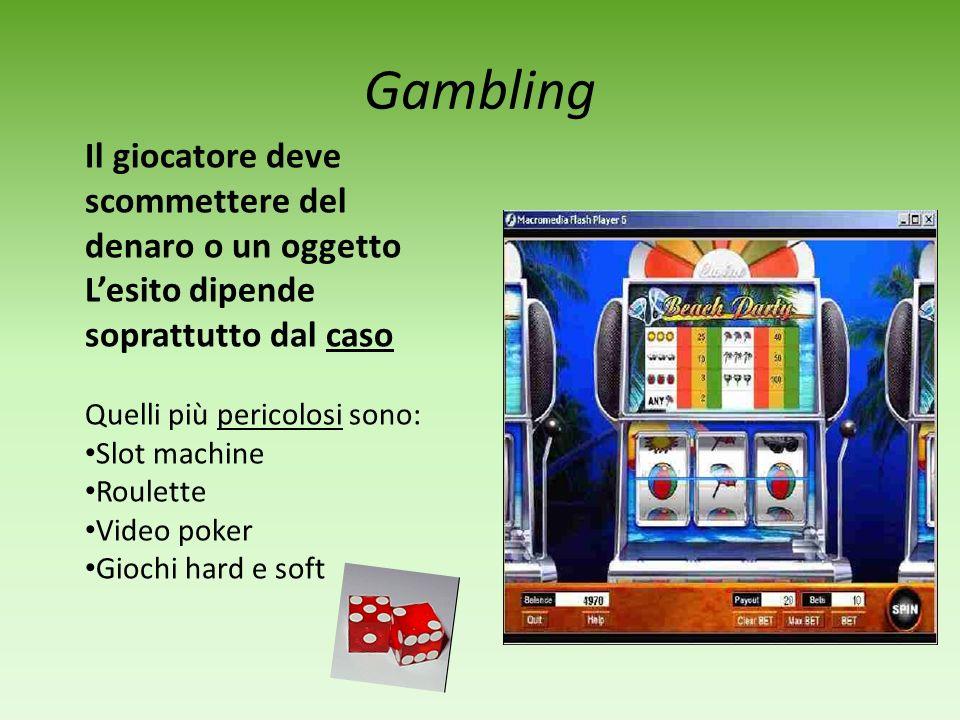 Gambling Il giocatore deve scommettere del denaro o un oggetto