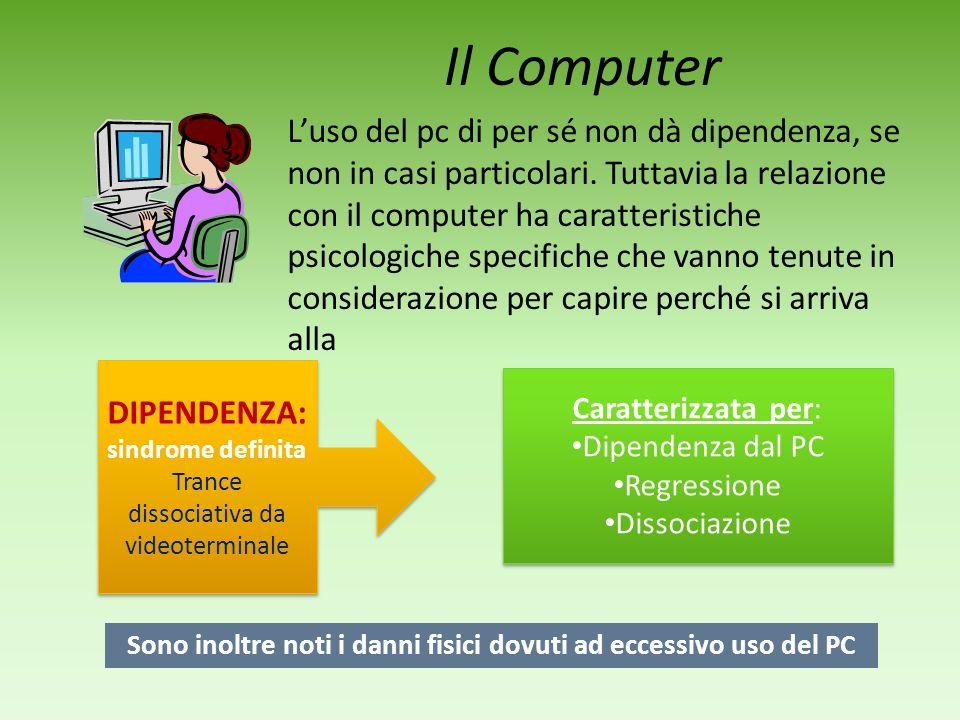 Sono inoltre noti i danni fisici dovuti ad eccessivo uso del PC