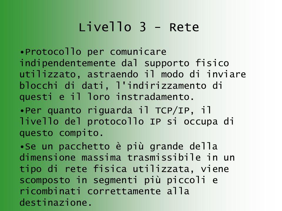 Livello 3 - Rete
