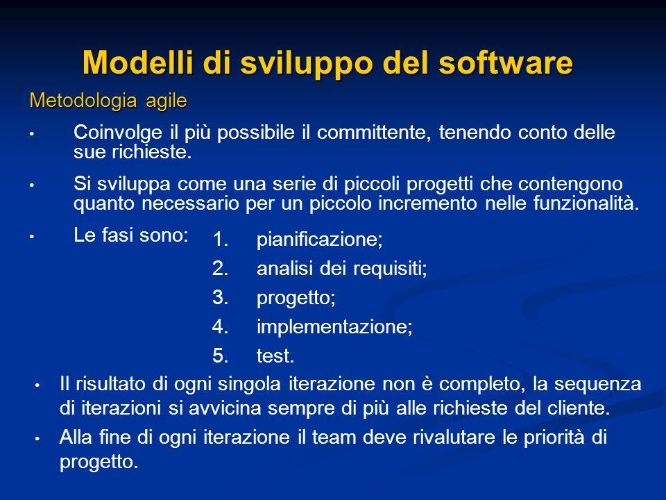Modelli di sviluppo del software
