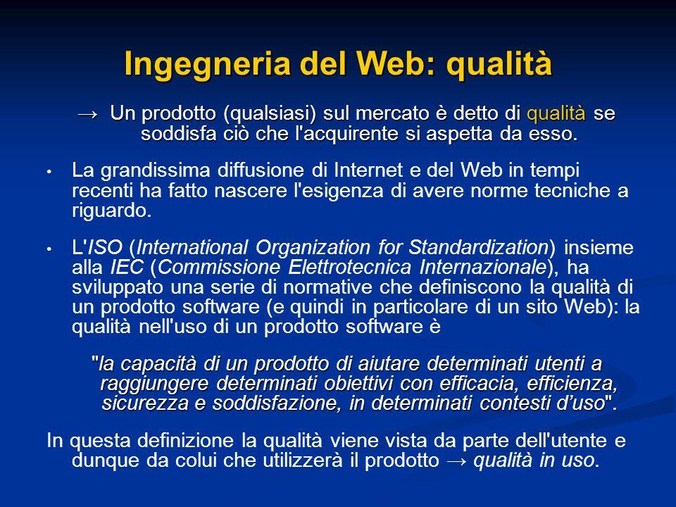 Ingegneria del Web: qualità