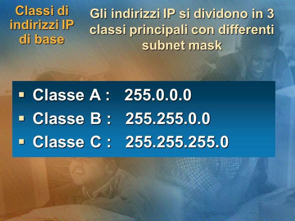 Classi di indirizzi IP di base