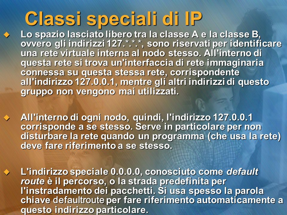 Classi speciali di IP