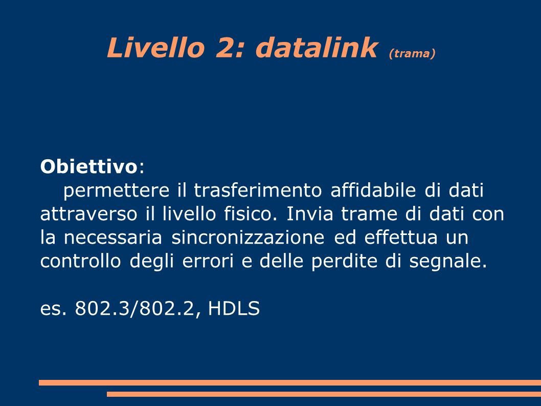 Livello 2: datalink (trama)